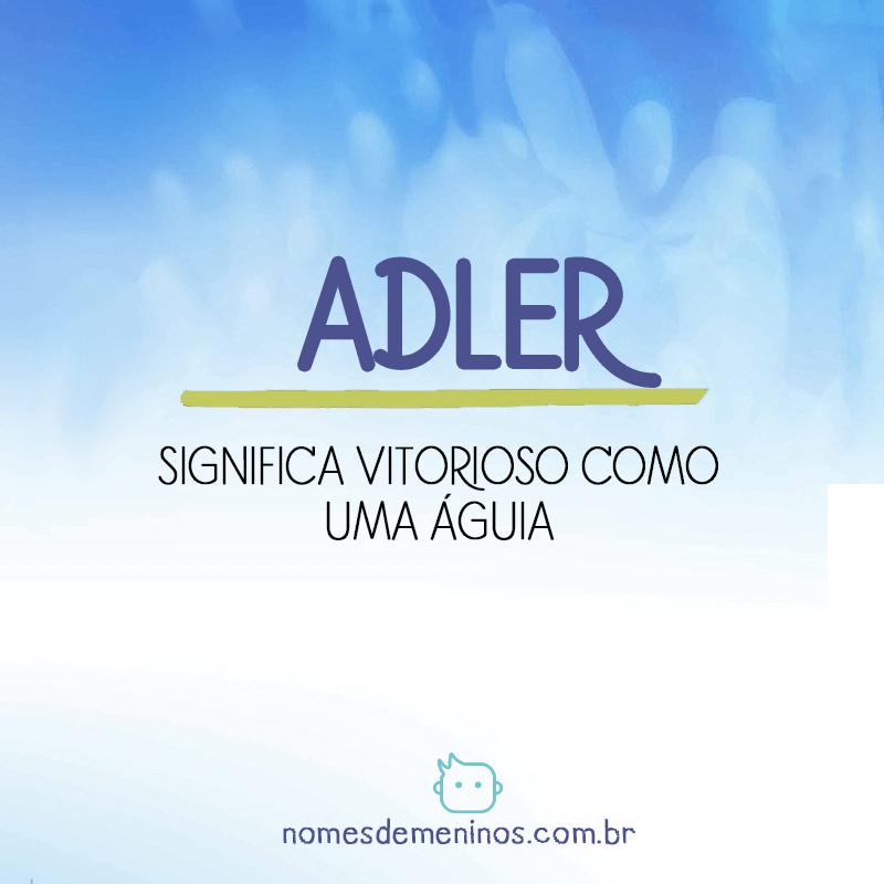 Significado do nome Adler