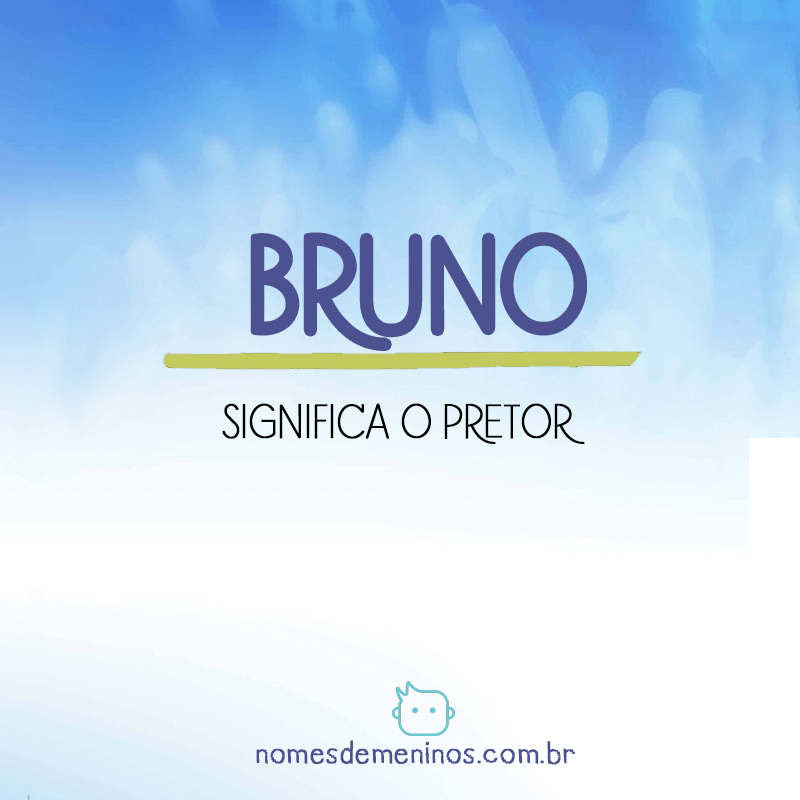 Significado do nome Bruno