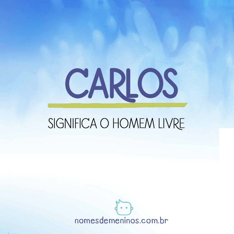 Significado do nome Carlos