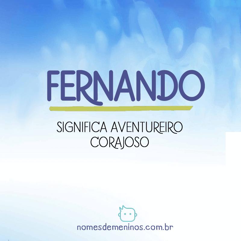 Significado do nome Fernando