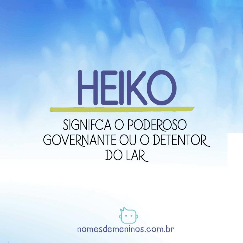 Significado de Heiko