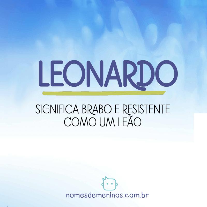 Significado do nome Leonardo